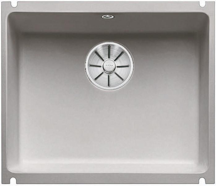 Кухонная мойка Blanco Subline 500-U InFino серый алюминий 523738 кухонная мойка blanco subline 500 u 514506