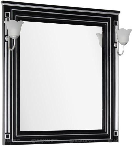 Зеркало 90х96,3 см черный серебряная патина Aquanet Паола 00181766