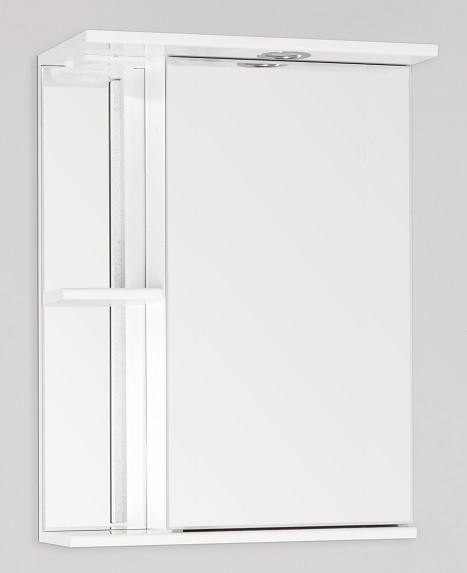 Фото - Зеркальный шкаф 50х73 см белый глянец Style Line Николь LC-00000116 зеркальный шкаф 75х83 см белый глянец style line олеандр 2 lc 00000051