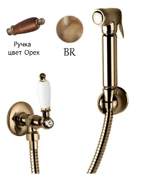 Гигиенический набор бронза, ручка орех Cezares First FIRST-KS-02-Nc