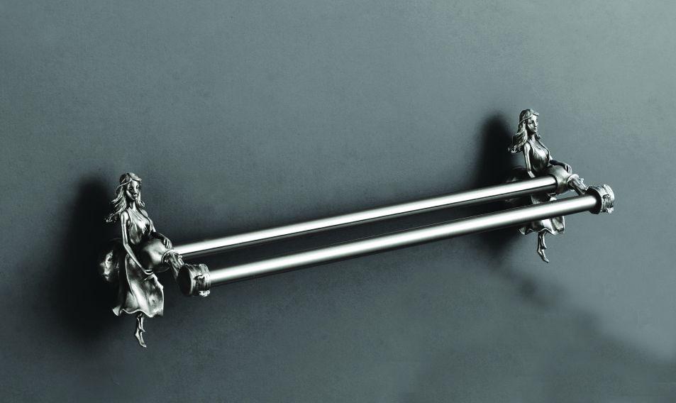 Полотенцедержатель двойной 60 см серебро Art&Max Athena AM-0618-T полотенцедержатель двойной 60 см серебро art