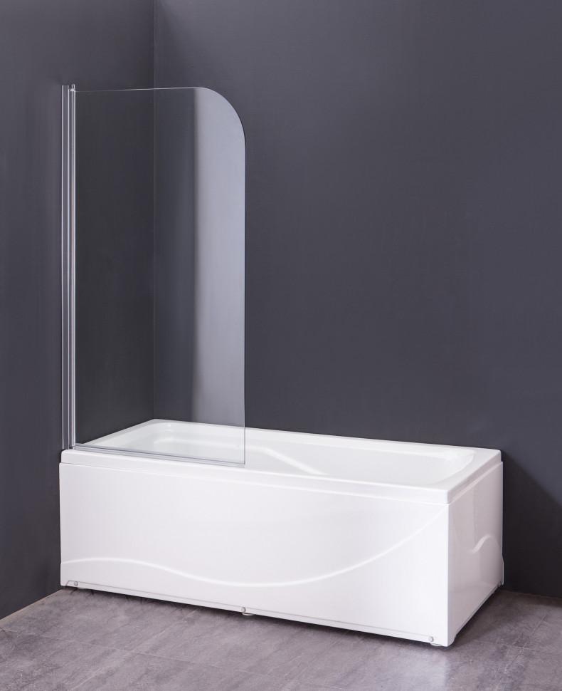 Шторка для ванны 80 см Grossman GR-100 прозрачное недорого