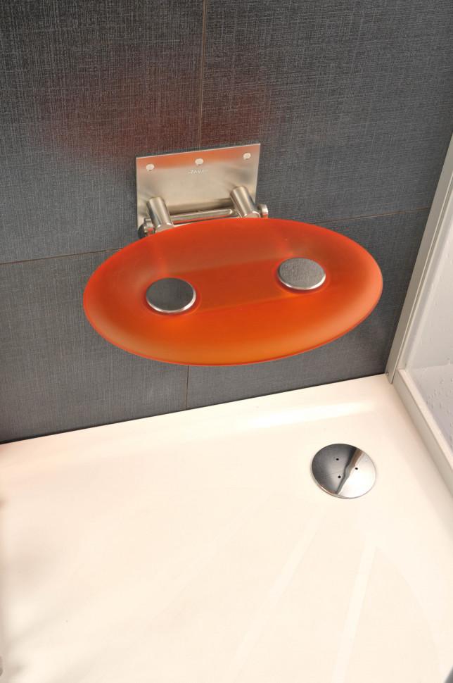 Cиденье для душа Ravak Ovo P полупрозрачное оранжевое B8F0000005