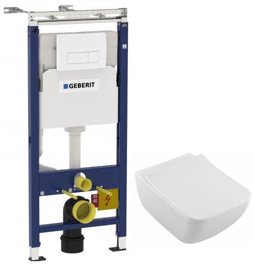 Комплект подвесной унитаз Villeroy & Boch Venticello 4611RSR1 + система инсталляции Geberit 458.125.11.1 фото