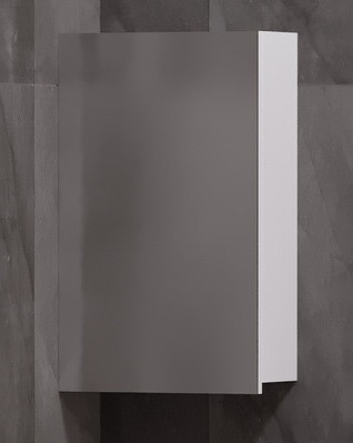 Зеркальный шкаф 40х65 см белый глянец Corozo Комо SD-00000290 зеркальный шкаф corozo орфей 50 белый sd 00000299