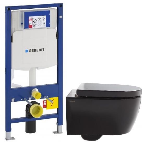 Комплект подвесной унитаз SSWW CT2038VBLACK + система инсталляции Geberit 111.300.00.5 комплект подвесной унитаз ssww ct2038vblack система инсталляции geberit 111 300 00 5