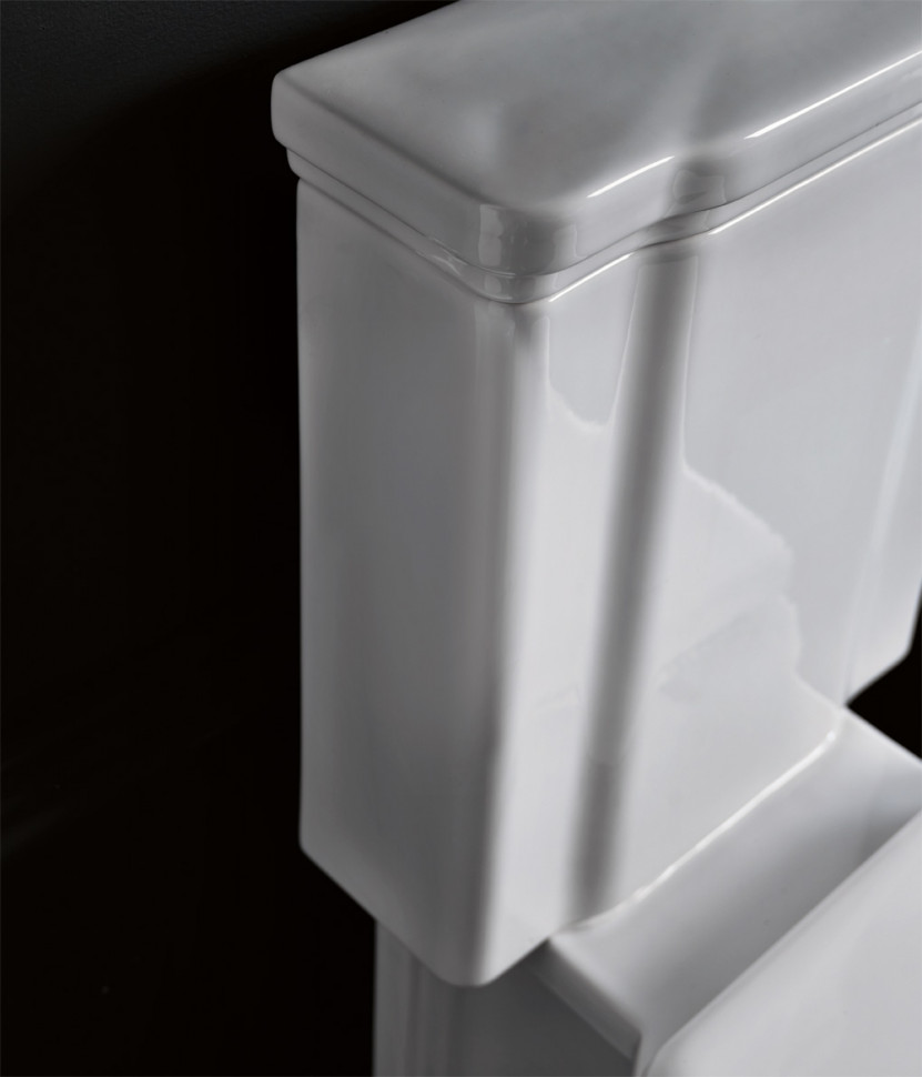 Бачок для унитаза с боковым отверстием для ручки смыва Kerasan Waldorf 417901bi