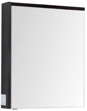 Зеркальный шкаф 69,5х85 см эвкалипт мистери/белый глянец R Aquanet Фостер 00202061