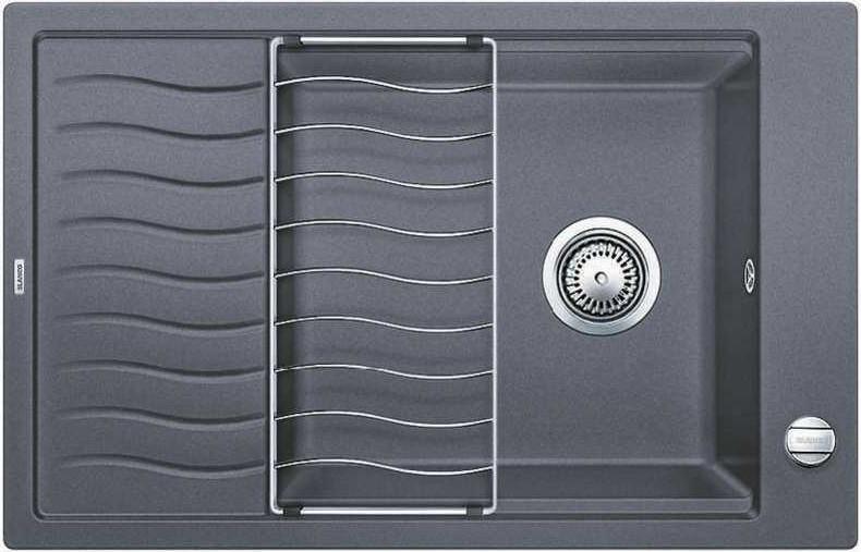 Кухонная мойка Blanco Elon XL 6 S-F темная скала 519511 кухонная мойка blanco elon xl 6 s антрацит