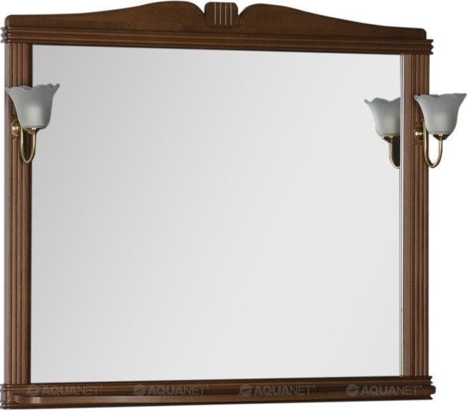 Зеркало 112,9х99,2 см орех Aquanet Николь 00180521