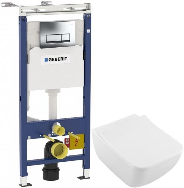 Комплект подвесной унитаз Villeroy & Boch Legato 5663RS01 + система инсталляции Geberit 458.125.21.1 фото