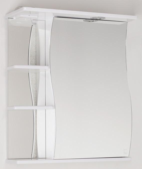 Зеркальный шкаф 60х73 см белый глянец Style Line Волна LC-00000121
