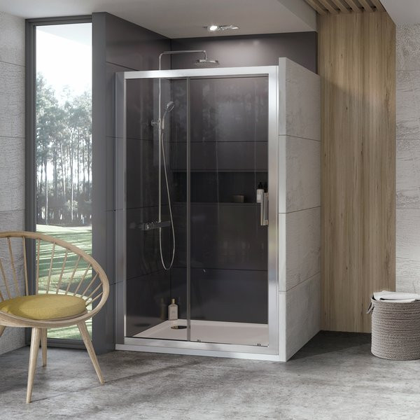 Душевая дверь 100 см Ravak 10° 10DP2 0ZVA0U00Z1 сатин прозрачное душевая дверь 170 см ravak 10° 10dp4 0zkv0u00z1 сатин прозрачное
