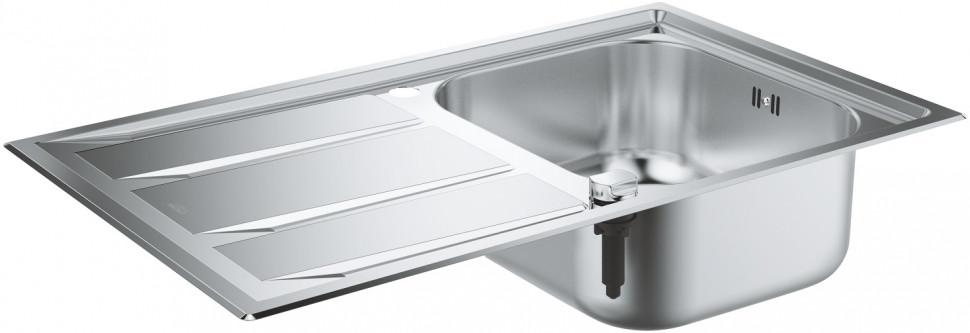 Кухонная мойка Grohe K400+ нержавеющая сталь 31568SD0 врезная кухонная мойка 87 3 см grohe k400 31568sd0 нержавеющая сталь