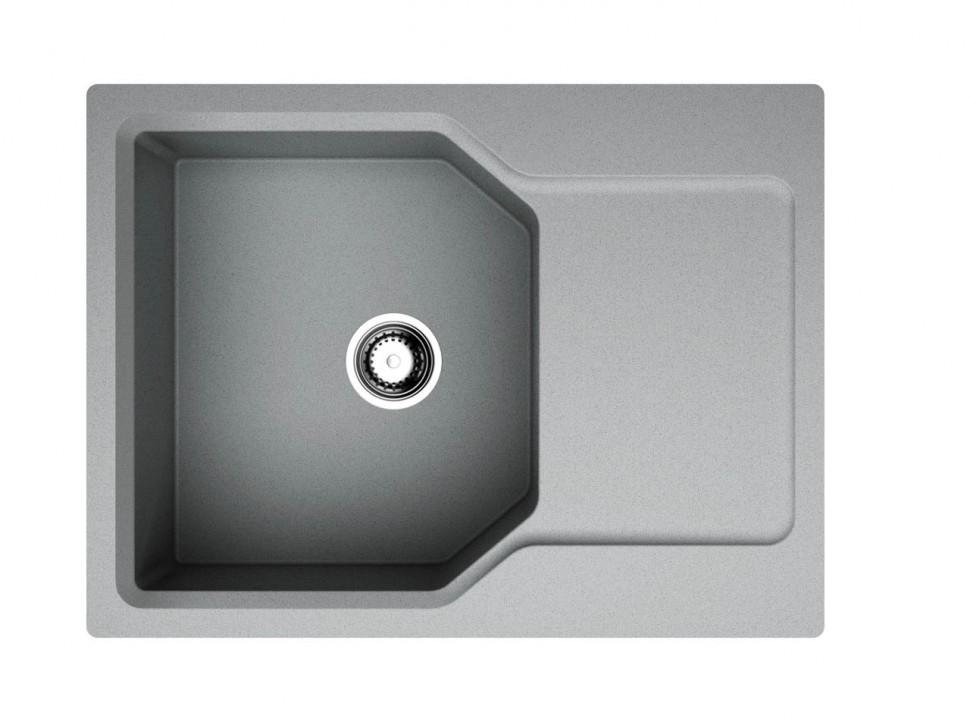 Кухонная мойка ленинградский серый Artgranit Omoikiri Yonaka 65-GR