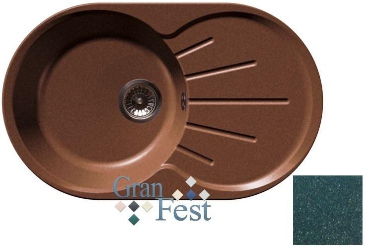 Кухонная мойка зеленый GranFest Rondo GF-R750L кухонная мойка черный granfest rondo gf r750l