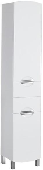 Пенал напольный правый белый с бельевой корзиной Aquanet Асти 00178029 зеркало aquanet асти 65 белый 177788