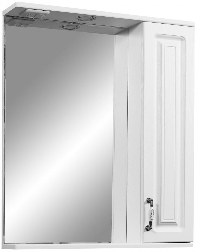 цена на Зеркальный шкаф 65х80 см белая ольха Stella Polar Кармела SP-00000184