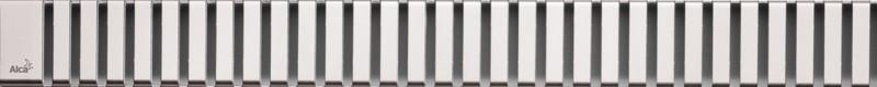 Декоративная решетка 944 мм AlcaPlast Line нержавеющая сталь LINE-950M