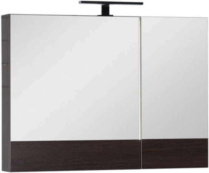 Зеркальный шкаф 90х67 см венге Aquanet Нота 00159110