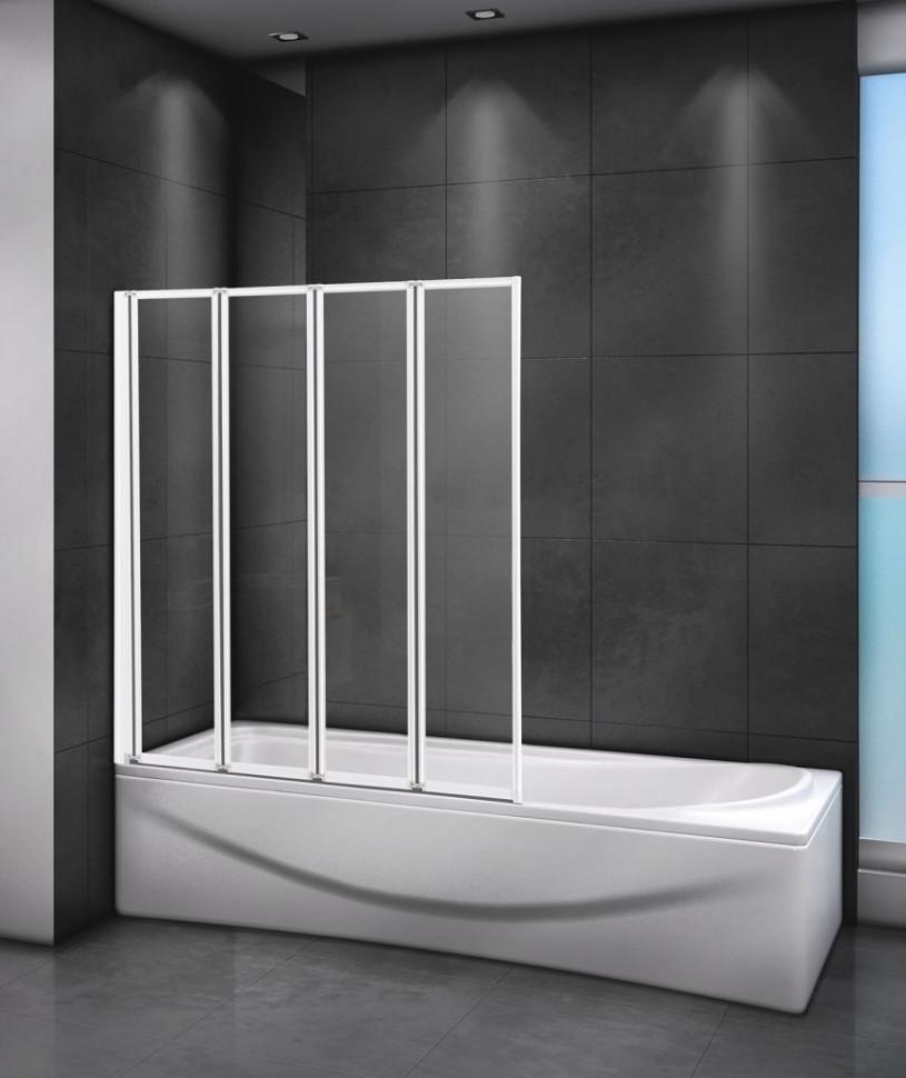 Шторка для ванны 80 см Cezares RELAX-V-4-80/140-C-Bi прозрачное недорого