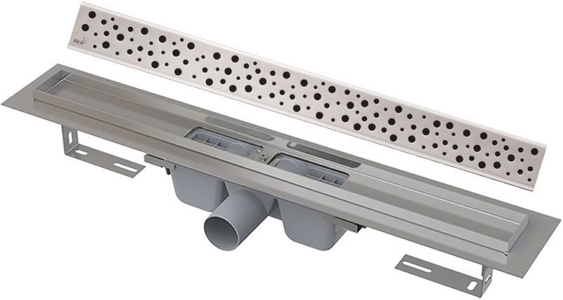 Душевой канал 844 мм нержавеющая сталь AlcaPlast APZ1 Buble APZ1-850 + BUBLE-850M фото