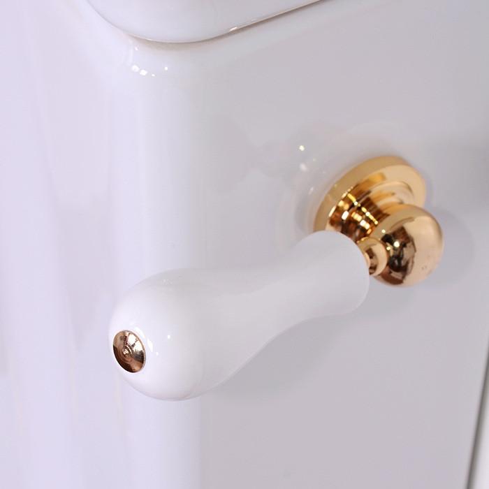 цена Механизм слива с боковой ручкой цвета золото для бачка моноблока Kerasan Retro 754291gold
