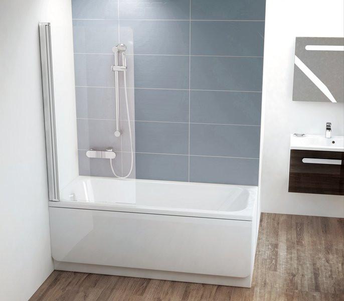 Шторка для ванны Ravak CVS1 80 L блестящий Transparent 7QL40C00Z1 шторка для ванны ravak cvs1 80 l блестящий профиль прозрачное стекло