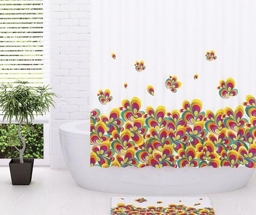Штора для ванной комнаты WasserKRAFT Leine SC-50101 стакан для ванной комнаты verran luma 251 25 серебристый