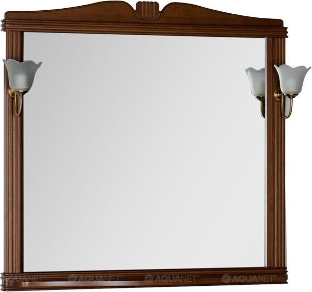 Фото - Зеркало 102,9х99,2 см орех Aquanet Николь 00180520 зеркало aquanet николь 180512