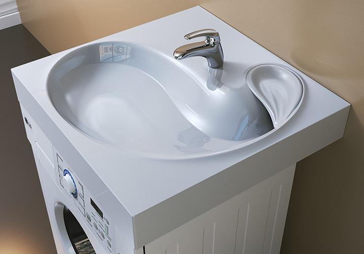 Раковина над стиральной машиной 60,5х60 см с кронштейнами Raval Buta 5211600