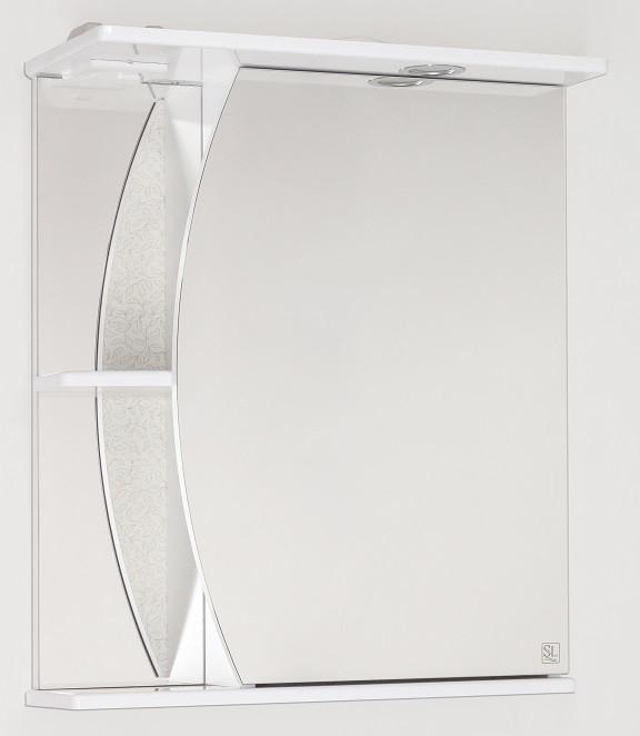 Фото - Зеркальный шкаф 60х73 см белый глянец Style Line Камелия LC-00000122 зеркальный шкаф 50х83 см венге белый глянец style line панда стиль lc 00000086