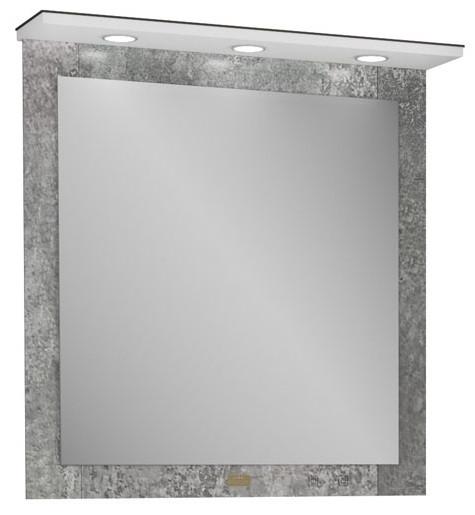 Зеркало 75,4х82,2 см индустриальный бетон Edelform Sirius 36495 фото