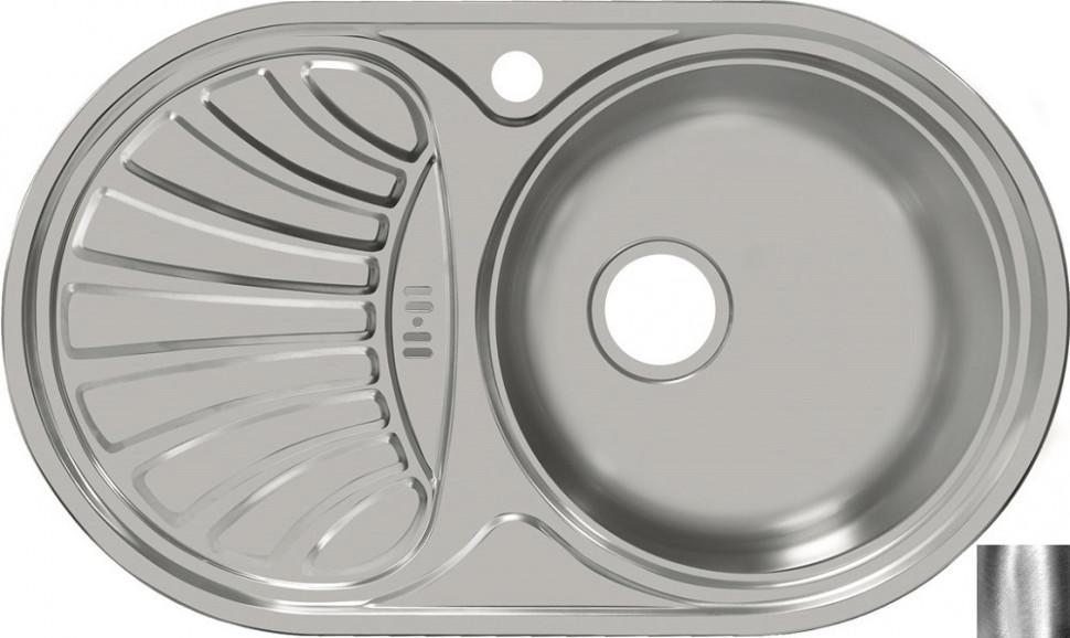 Кухонная мойка полированная сталь Ukinox Фаворит FAP747.447 -GW8K 1R кухонная мойка полированная сталь ukinox фаворит fap770 480 gw8k 2l