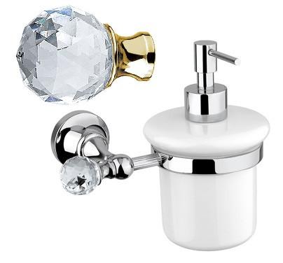 Дозатор для мыла подвесной золото 24 карат, swarovski Cezares Olimp OLIMP-SOI-03/24-Sw