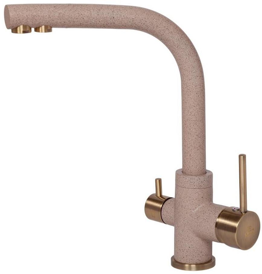 Смеситель для кухни с подключением к фильтру Paulmark Essen Es213011-302-BR смеситель для кухни с подключением к фильтру paulmark essen es213011 418