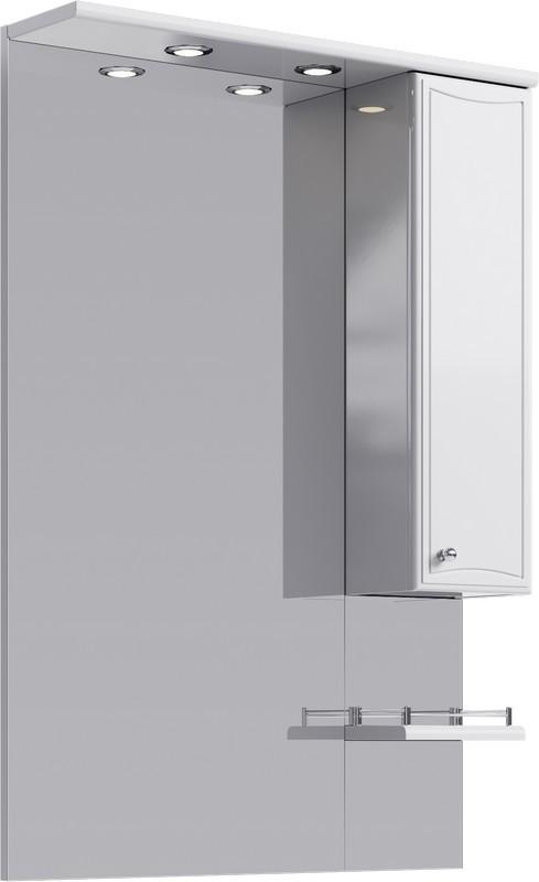 Зеркальный шкаф 70х108 см с подсветкой Aqwella Barcelona Ba.02.07 зеркало шкаф aqwella barcelona 100x108 белый ba 02 10