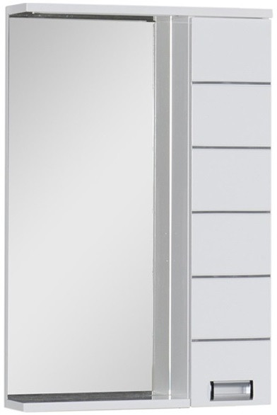 Зеркальный шкаф 60х87 см с подсветкой белый Aquanet Доминика 00171918 цена
