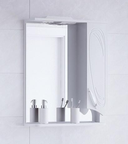 Зеркальный шкаф 60х74 см белый глянец Corozo Кентис SD-00000288 зеркальный шкаф corozo орфей 50 белый sd 00000299