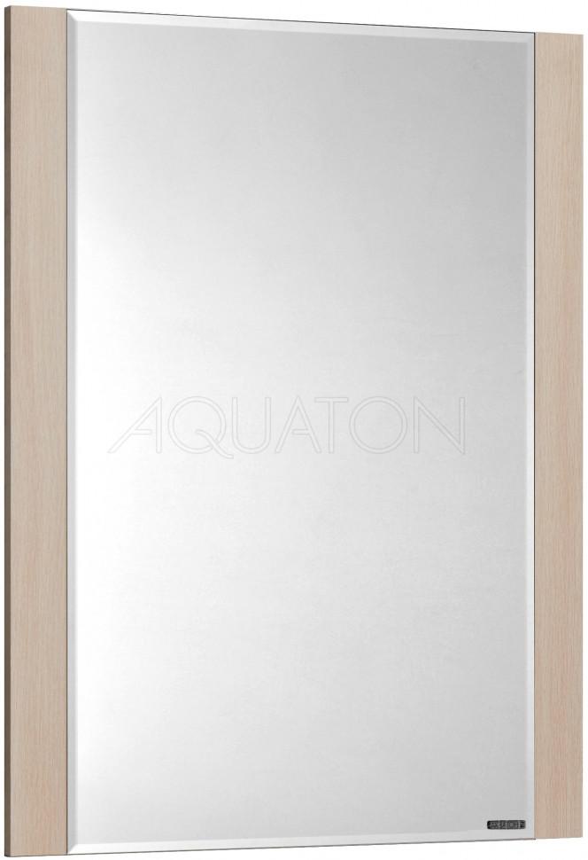 Зеркало дуб молочный 65х85,6 см Акватон Альпина 1A133502AL530 фото