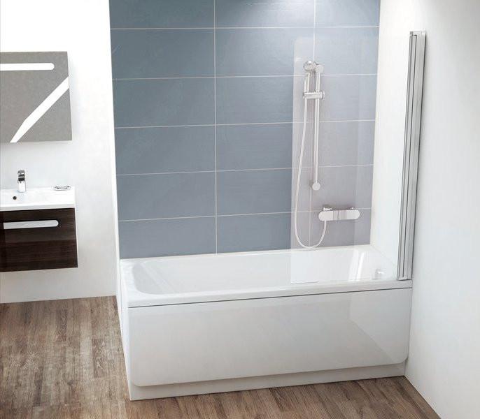 Фото - Шторка для ванны Ravak CVS1 80 P блестящий Transparent 7QR40C00Z1 шторка для ванны ravak chrome cvs1 80 l блестящая стекло transparent