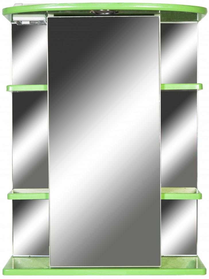 Зеркальный шкаф 55х72 см салатовый глянец Orange Кларис Kl-55ZSL