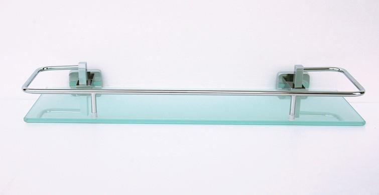 Полка стеклянная с бортиком 60 см Rainbowl Cube 2753-2 фото