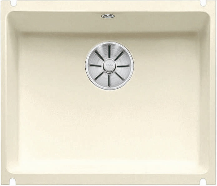 Кухонная мойка Blanco Subline 500-U InFino глянцевый магнолия 523734 кухонная мойка blanco subline 500 u 514506