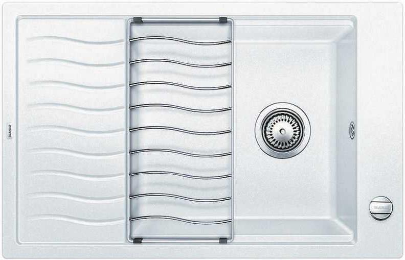 Кухонная мойка Blanco Elon XL 6 S-F белый 519513 кухонная мойка blanco elon xl 6 s антрацит