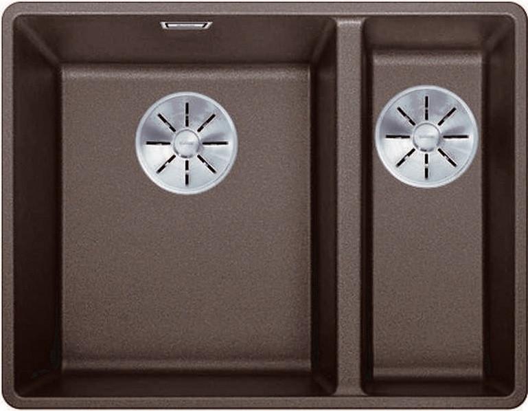 Кухонная мойка Blanco Subline 340/160-F InFino кофе 523573 цена в Москве и Питере