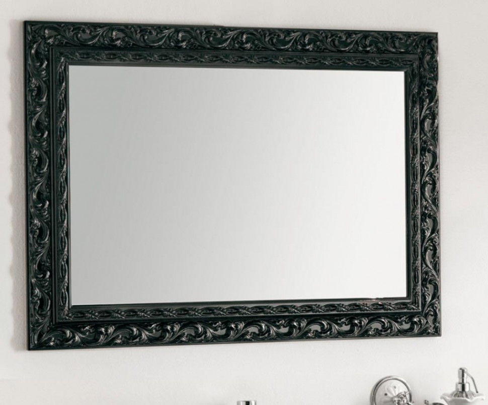 зеркало 98х70 см серебро eban selene fcrsl098a Зеркало 98х70 см черный Eban Barocco FCRBK098SH