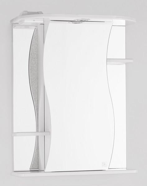 Фото - Зеркальный шкаф 55х73 см белый глянец Style Line Лилия LC-00000119 зеркальный шкаф 50х83 см венге белый глянец style line панда стиль lc 00000086