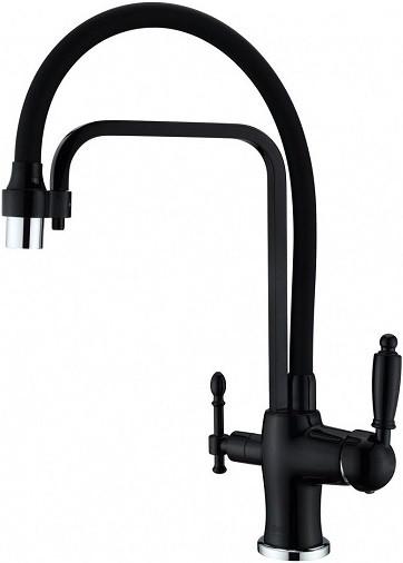 Смеситель для кухни с подключением к фильтру Zorg Sanitary ZR 342-6 YF BLACK