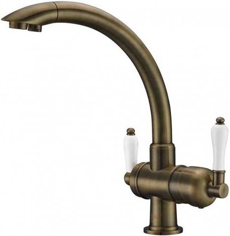 Смеситель для кухни с подключением к фильтру Zorg Sanitary ZR 327 YF ANTIQUE